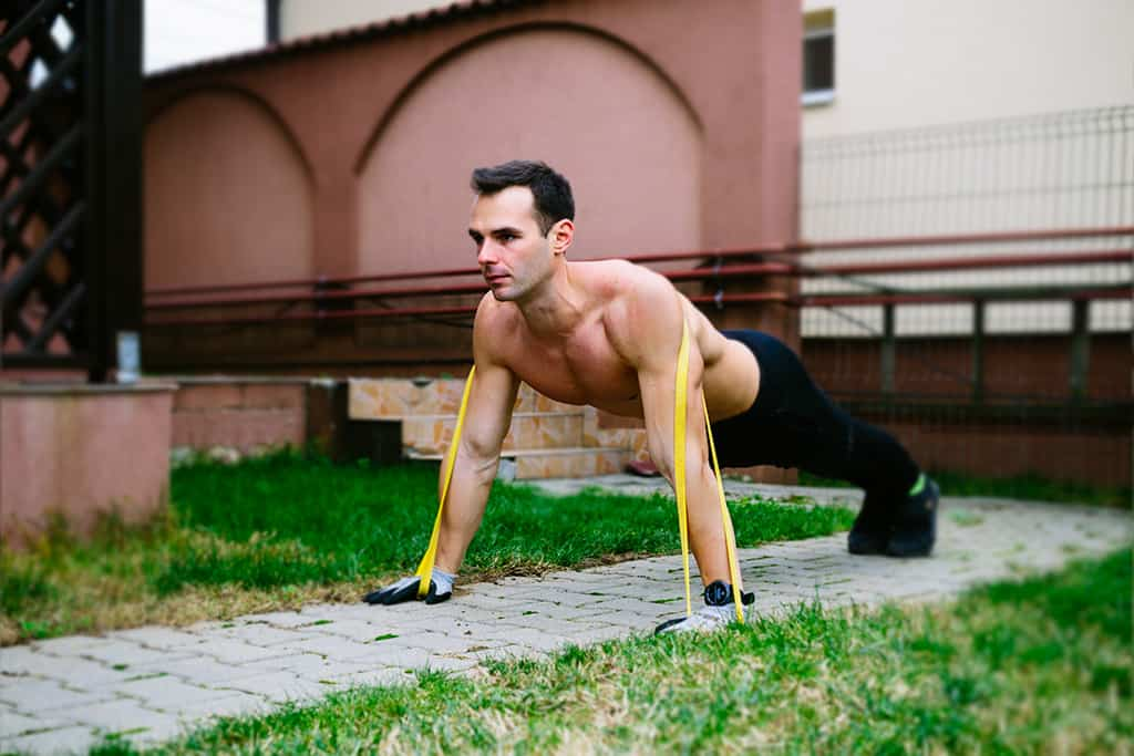 Pushups with Resistance Bands